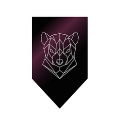 Tasmanian devil polygonal head sign vector
