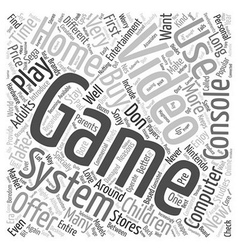 Used video game systems text background wordcloud vector