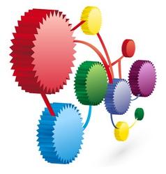 working cog wheels vector image