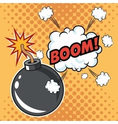 Boom explosion pop art comic design vector