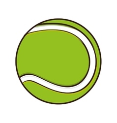 Tennis ball sport game vector