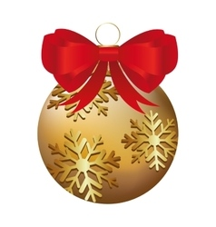 Ball christmas decoration icon vector