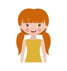 Half body sweet girl with pigtails and dress vector