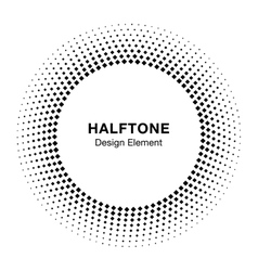 Abstract circle frame halftone dots design element vector