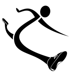 Runner icon Stylized sketch vector image