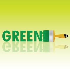 green with brush vector image