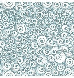 Seamless pattern of chaotic curls vector