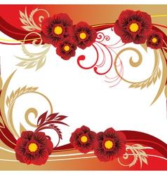 summer floral vector image
