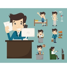 Businessman routine  eps10 format vector