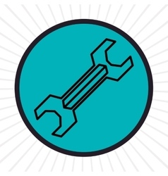 Wrench tool inline icon graphic vector