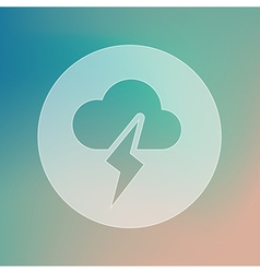 Cloud lightning transparent icon weather vector