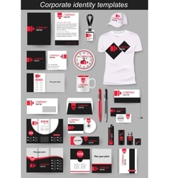 Corporate identity business photorealistic design vector