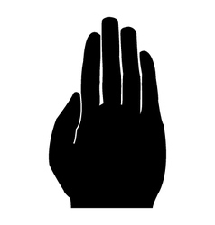Silhouette hand on white background vector