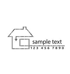 Outline of arrow barcode home vector