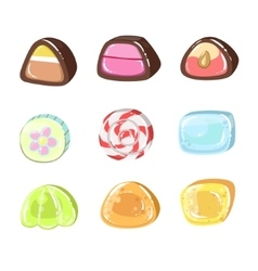 Sweets colorful set vector