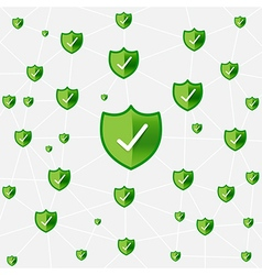 Safty shield securty network connection eps10 vector