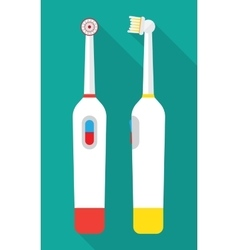 An electric toothbrush vector
