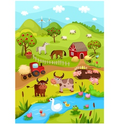 Farm card vector