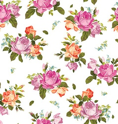 Abstract seamless floral pattern with pink and vector image vector image