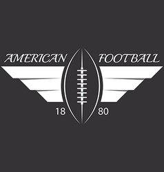 American football or rugby ball with wings sport vector