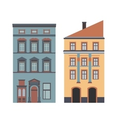 Beautiful detailed cartoon cityscape collection vector