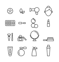 Beauty and cosmetic line icon vector