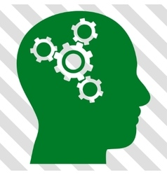 Brain Mechanics Icon vector image