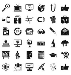 business analysis icons set cartoon style vector image vector image