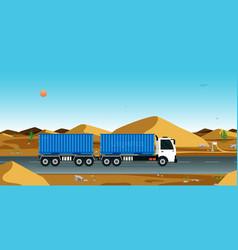 Cargo transportation by truck vector