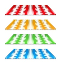 Colored Awnings vector image