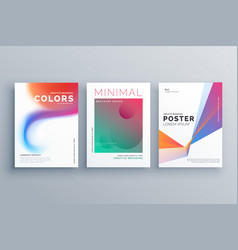 Creative set of colorful business poster design vector