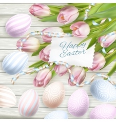 Easter eggs card EPS 10 vector image