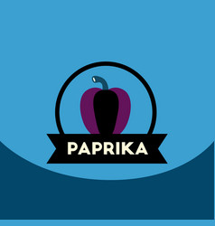 flat icon design collection paprika emblem vector image