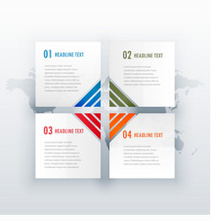 four steps white infograph design for web or vector image