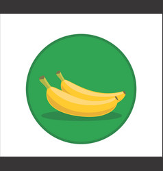 fresh banana cartoon rounded vector image