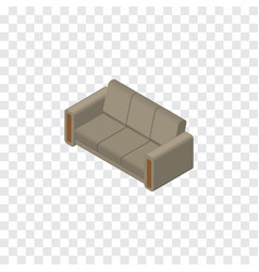 Isolated sofa isometric couch element can vector
