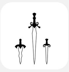 Knives sharp blades symbols vector