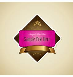 label with ribbon vector image vector image