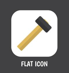 Of instrument symbol on hammer vector