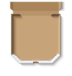 open empty cardboard pizza box vector image