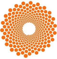 orange circle pattern flower vector image