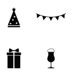 party icon set vector image vector image
