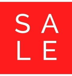 sale design on red background red banner vector image vector image