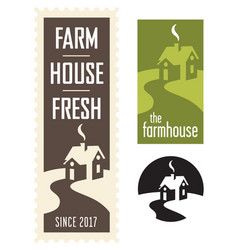 set of farmhouse logos vector image