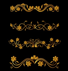 vintage flower elements vector image