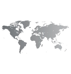 Silver World map vector image