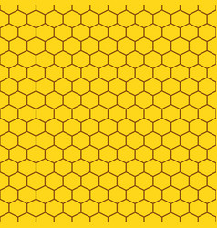 honeycomb yellow seamless pattern vector image