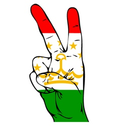 Peace Sign of the Tajikistans flag vector image