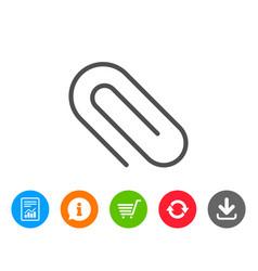 Attach line icon attachment paper clip sign vector