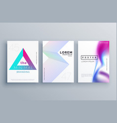 Minimal cover template design set in clean style vector